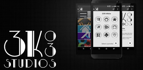 ۳K SR WHITE – Icon Pack v1.3.3