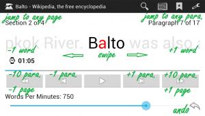 تصویر محیط Balto Speed Reading v4.2a