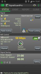 تصویر محیط Signal Guard Pro v4.5.0