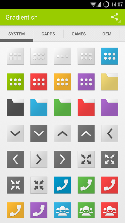 Gradientish (Icon Pack Theme) v1.1.6
