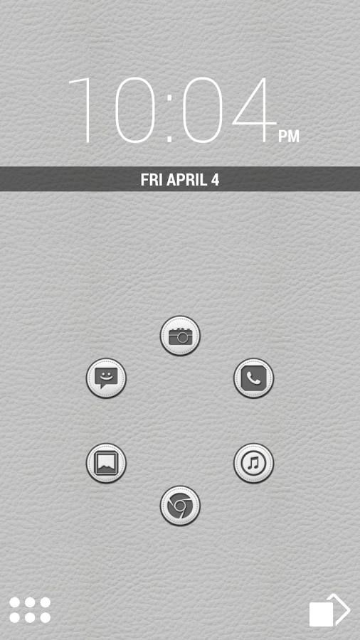 White Leather Icon Pack Theme v1.5.0
