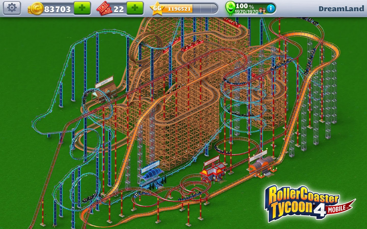 RollerCoaster Tycoon® 4 Mobile v1.8.3 + data