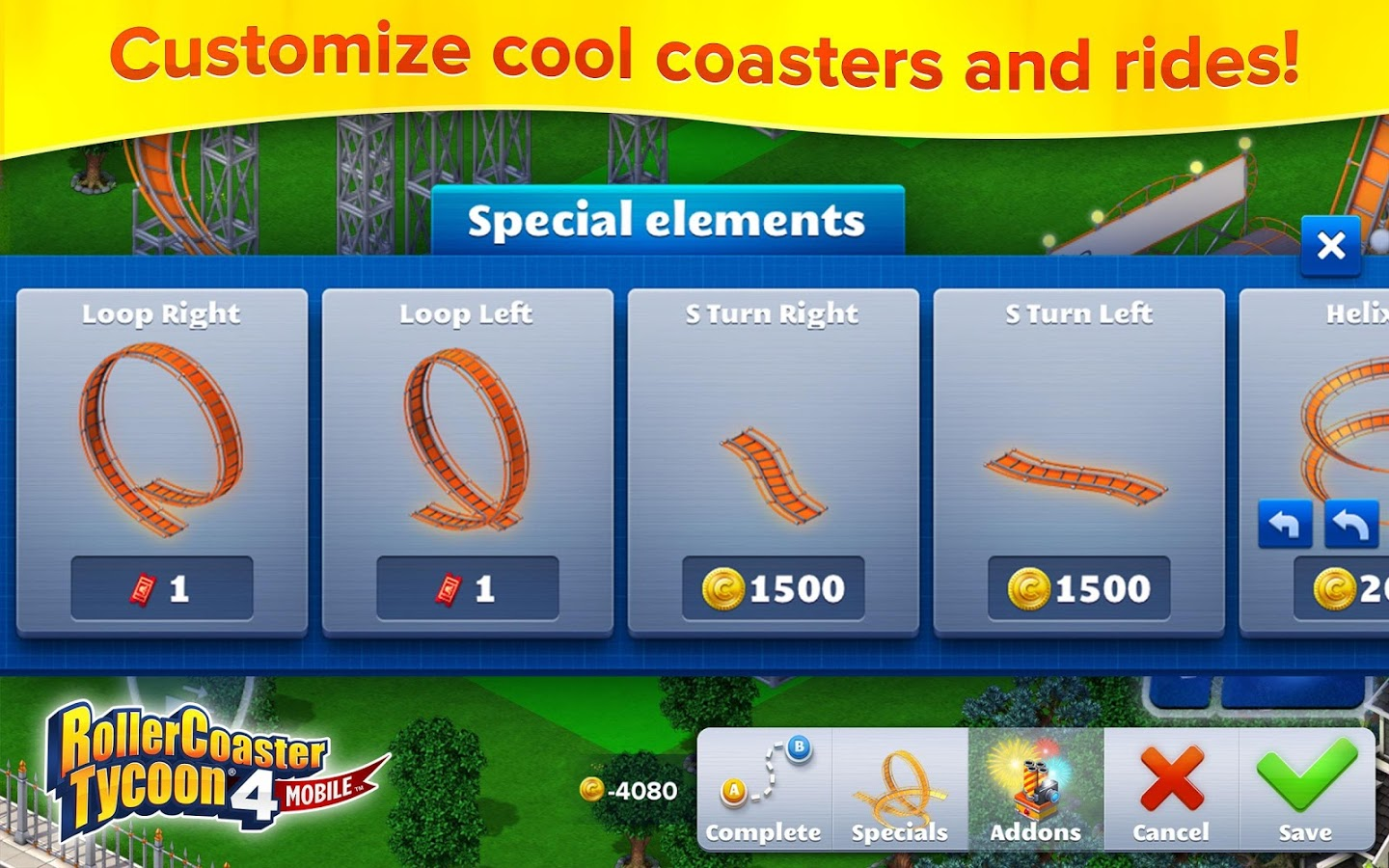 RollerCoaster Tycoon® ۴ Mobile v1.8.3 + data