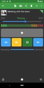 تصویر محیط Dictadroid – Voice Recorder v2.0.8
