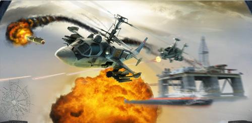 دانلود بازی جنگ هلی کوپتر ها اندروید CHAOS Combat Copters HD #1 v6.4.0