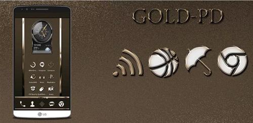 دانلود پک آیکن های طلایی اندروید Gold-PD Icon Pack v1.1.0