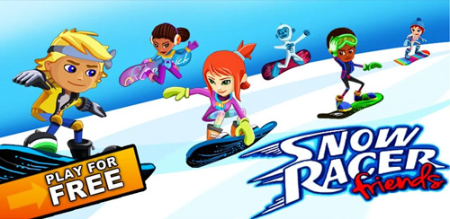 دانلود بازی مسابقات برفی اسکی اندروید Snow Racer Friends v1.1.8