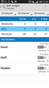 تصویر محیط WiFi Insight WiFi Analyzer v1.0.2