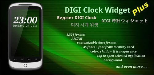 DIGI Clock Widget Plus v2.2.0