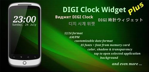 DIGI Clock Widget Plus v1.25