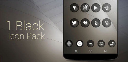 one black Theme HD icons Pack v1