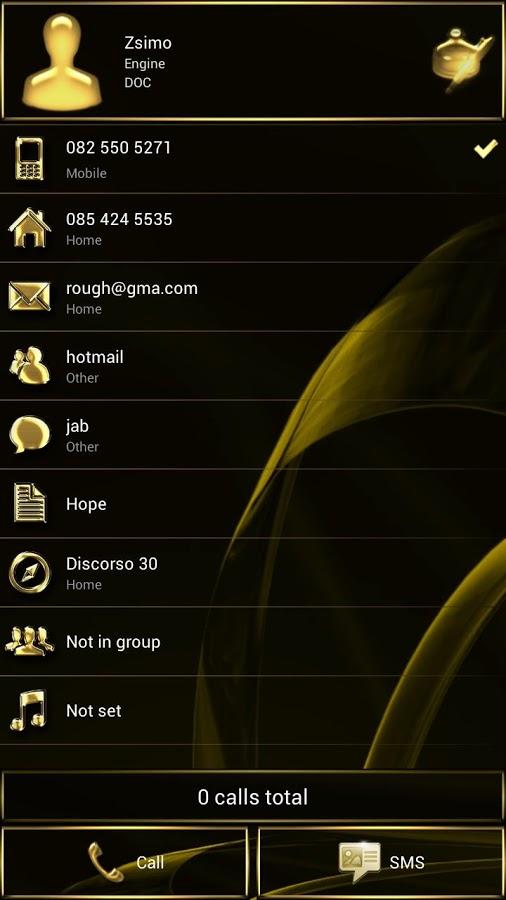 Dialer MetalGate Gold theme v1.0