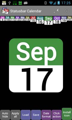 Statusbar Calendar v1.7