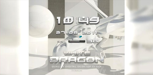 White Dragon Clock Widget v2.16