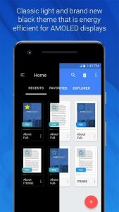 تصویر محیط FullReader – all e-book formats reader v4.2.9 build 270