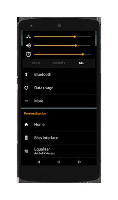 Black MTRL BlueGrey CM12 Theme v1.5