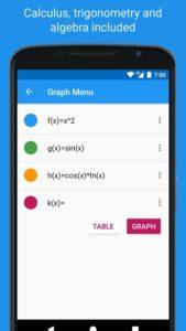 تصویر محیط Graphing Calculator – Algeo | Free Plotting v2.13