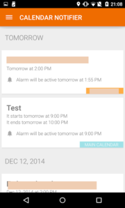 تصویر محیط Events Notifier for Calendar v3.25.350