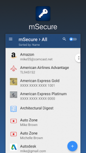 تصویر محیط mSecure – Password Manager v5.5.6