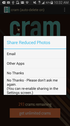 Cram – Reduce Pictures v3.3