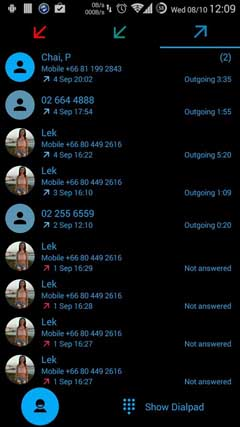 Dialer theme Flat Black Blue v1.2