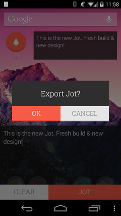 JOT! – Notes Widget 2.4