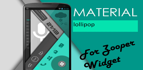 material lollipop ZooperWidget v1.02