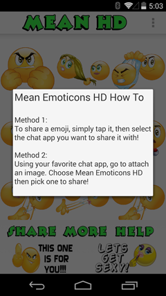Mean Emoticons HD v1.4