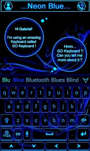 Neon Blue GO Keyboard Theme 1.66.1.52