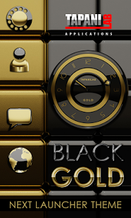 Next Launcher Theme black gold v2.35