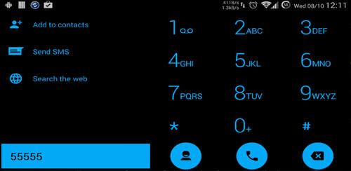 Dialer theme Flat Black Blue v1.2