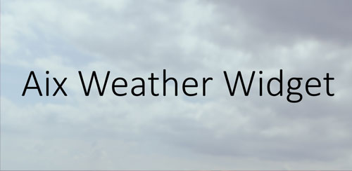 Aix Weather Widget (donate) v0.1.9.3