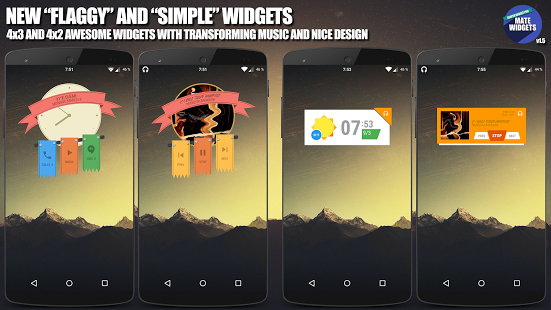 Mate Widgets for ZOOPER v1.6