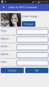 تصویر محیط Video to MP3 Converter – MP3 Tagger v1.6.1