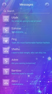 GO SMS Glass III Theme 1.1