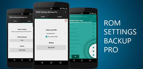 ROM Settings Backup Pro v2.45