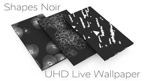 Shapes Noir Live Wallpaper v1.0