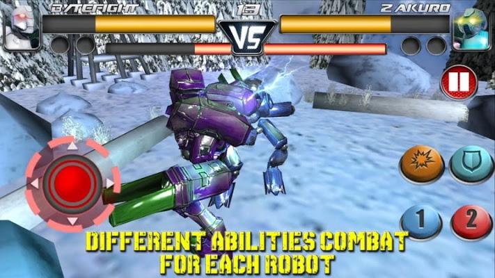 پاسخ سریع ربات ها در فایل ل بازی مبارزات خیابانی ربات ها Steel Street Fighter Club Pro ...