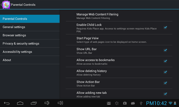 Safe Browser Parental Control v1.3.2