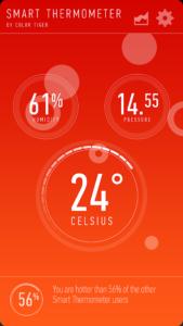 تصویر محیط Smart Thermometer v3.0.6