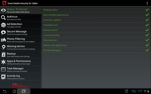 Zoner Mobile Security v1.6.5