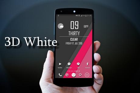۳D White Icon Pack v1.0