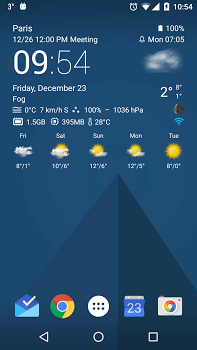 Transparent clock weather Pro v0.99.11.16