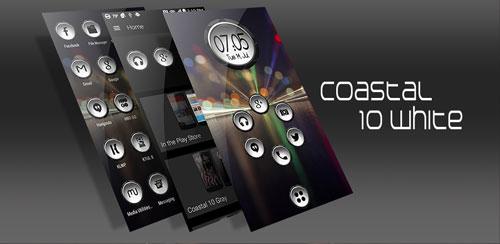 دانلود آیکون پک سفید Coastal 10 White - Icon Pack v1.5