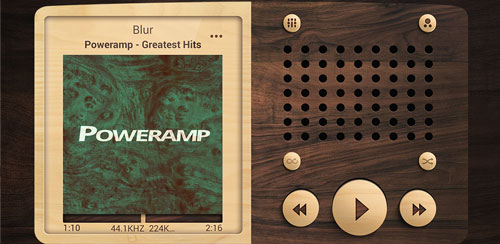 Poweramp skin Wooden v1.0.2
