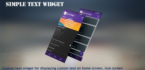 Simple Text Widget (Any Text) FULL v3.2