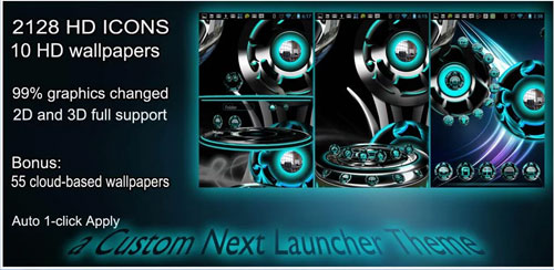 Next Launcher theme Twister C v1.0.4
