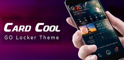 دانلود تم قفل صفحه Card Cool GO Locker Theme v1.0