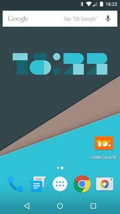 FORM Clock Widget v1.0.1