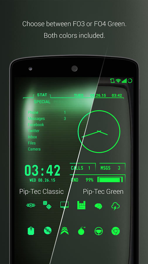PipTec Green Icons & Live Wall v1.6.4